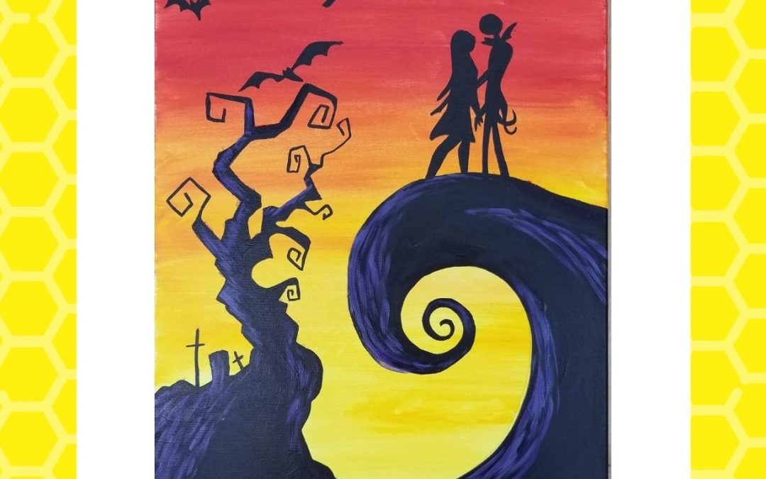 Spooky Silhouette Painting